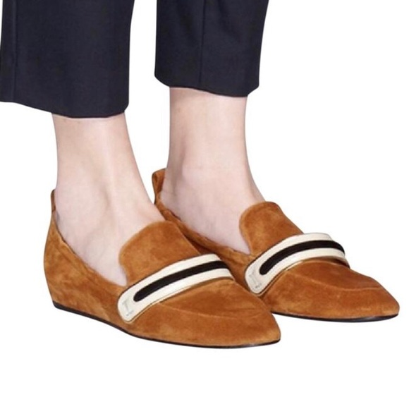 Iso Lanvin Suede Loafer Slippers 385 Or